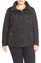 Plus Size Women's Michael Michael Kors Quilted Field Jacket Black