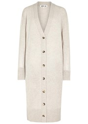 Mcq By Alexander Mcqueen Stone Wool And Cashmere Cardigan Beige