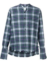 Greg Lauren Plaid 'The Ex' Flannel Studio Button Down Shirt Green