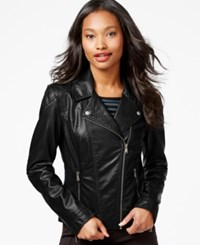 Celebrity Pink Faux Leather Moto Jacket