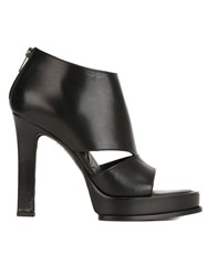 Ann Demeulemeester Cut Out High Heel Shoes Black
