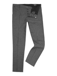 Peter Werth Souvenir Textured Flat Fronted Trouser Navy