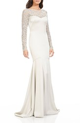 Theia Women's Embellished Mermaid Gown