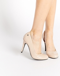 Blink Cut Out Heeled Shoes Nude