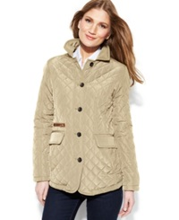 Jones New York Petite Quilted Packable Jacket With Travel Bag