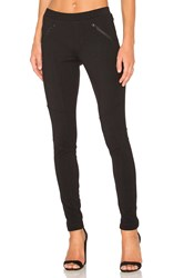 Bobi Stretch Twill Zipper Pocket Legging Black