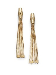 Gucci Bamboo 18K Yellow Gold Tassel Earrings