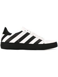 Off White Diagonal Stripe Sneakers White
