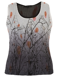 Chesca Reversible Double Layer Print Camisole Ivory