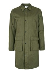 Topman Green Khaki Formal Military Style Mac