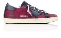 Golden Goose Women's Superstar Satin And Suede Sneakers Purple