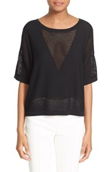Women's Tracy Reese Openwork Detail Sweater Black