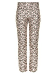 Giambattista Valli Flower Bud Jacquard Cropped Trousers Light Pink