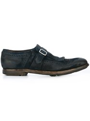 Church's 'Shanghai' Monk Strap Shoes Blue