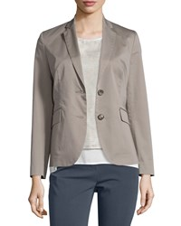 Peserico Two Button Cotton Blazer Taupe Brown Women's