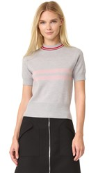 Tim Coppens Cropped Mock Neck Sweater Heather Grey