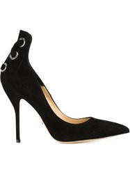 Paul Andrew Laced Eyelet Pumps Black