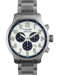 Filson The Mackinaw Field Chronograph Watch 43Mm White
