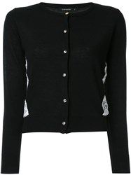 Loveless Lace Panel Cardigan Black