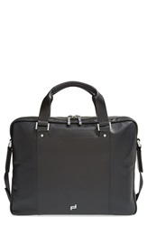 'Shyrt' Leather Briefcase Black