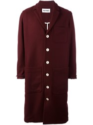 Sunnei Single Breasted Coat Red