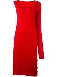Maison Martin Margiela Mm6 'Roxeane' Knit Dress Red