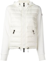 Moncler Padded Front Hooded Jacket White