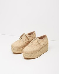 Robert Clergerie Pinto Raffia Platform Oxford Natural