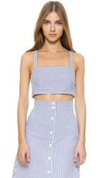 Club Monaco Stellha Top Blue Stripe