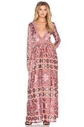 For Love And Lemons Juliet Maxi Dress Burgundy