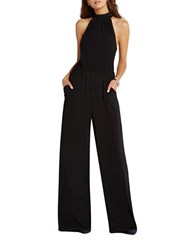 Bcbgeneration Flared Mockneck Jumpsuit Black