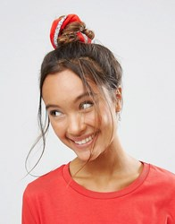 Asos Christmas Tinsel Scrunchie Red