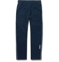 Stussy Tapered Contrast Trimmed Jersey Sweatpants Midnight Blue