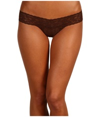 Hanky Panky Petite Signature Lace Low Rise Thong Chestnut Women's Underwear Brown