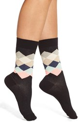 Happy Socks Women's 'Faded Diamond' Crew