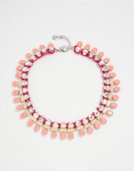 Nali Statement Gem Necklace Pink