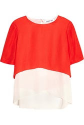 Elizabeth And James Tulsi Layered Silk Crepe Top