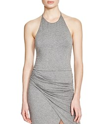 Alice Olivia Alice And Olivia Jaymee Cropped Halter Top Medium Grey