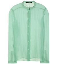 Haider Ackermann Sheer Silk Shirt Green