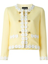 Boutique Moschino Waffle Textured Jacket Yellow And Orange