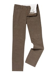 Linea Buxton End On End Smart Trouser Brown