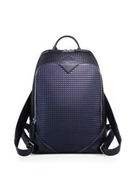 Mcm Textured Leather Backpack True Navy