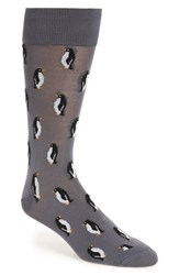 Hot Sox Men's 'Penguin' Socks Dark Grey
