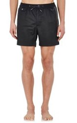 Marc By Marc Jacobs Side Striped Swim Shorts Black