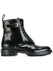 Belstaff Lace Up Buckle Ankle Boots Black