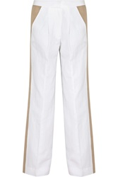 J.Crew Collection Cotton And Linen Blend Wide Leg Pants White
