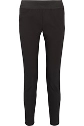 Stella Mccartney Mirabella Organza Trimmed Cotton Blend Skinny Pants Black