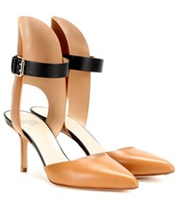 Francesco Russo Leather Pumps Brown