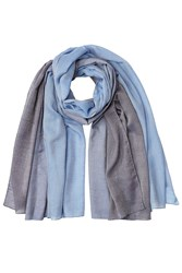 Jil Sander Cotton Cashmere Silk Scarf Blue