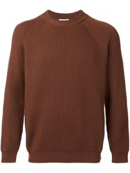 H Beauty And Youth. Ribbed Jumper Brown